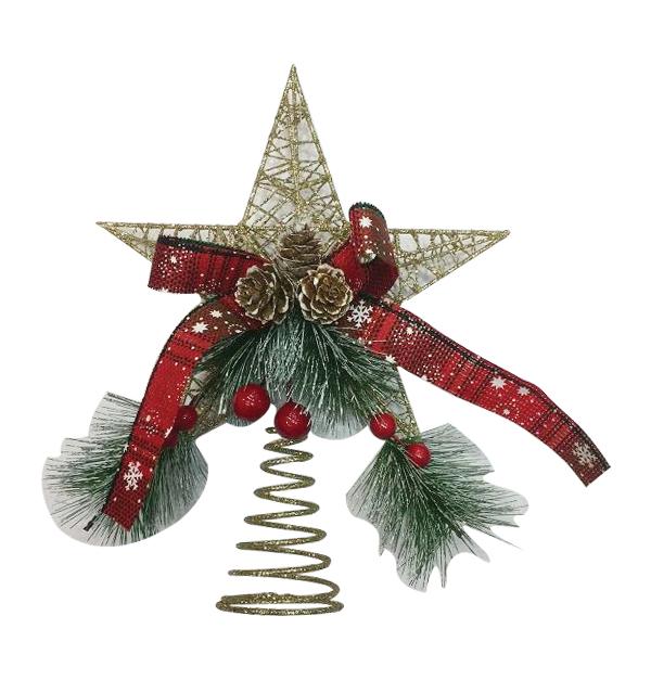 Χριστουγεννιάτικο αστέρι για κορυφή δέντρου