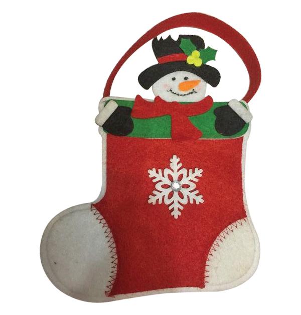 Τσόχινη κρεμαστή κάλτσα Χριστουγέννων