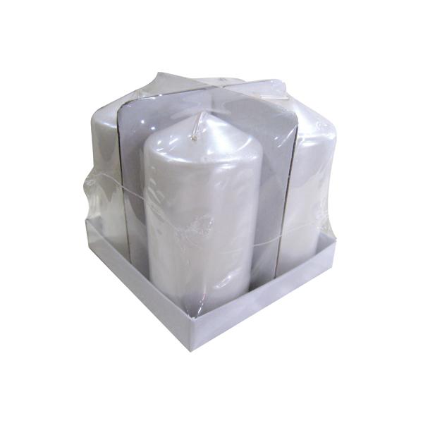 Σετ 4 λευκά κερια