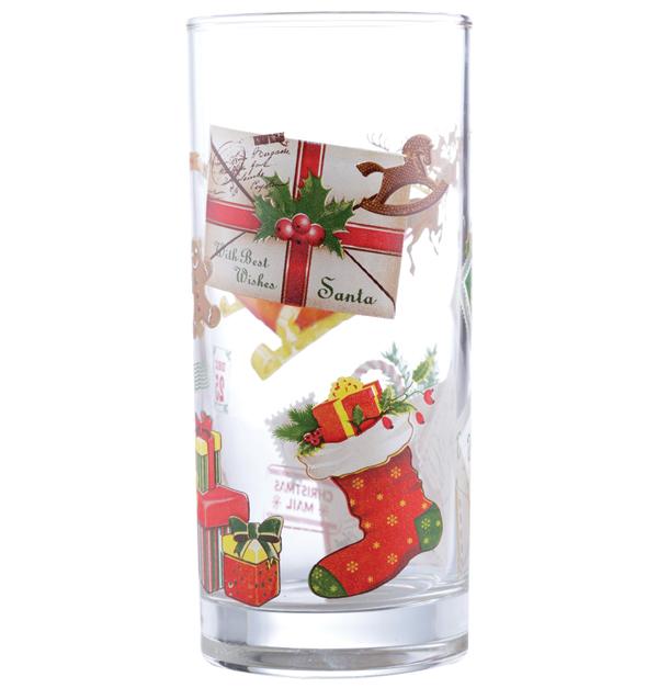 Σετ 6 ποτήρια νερού Santa s mail