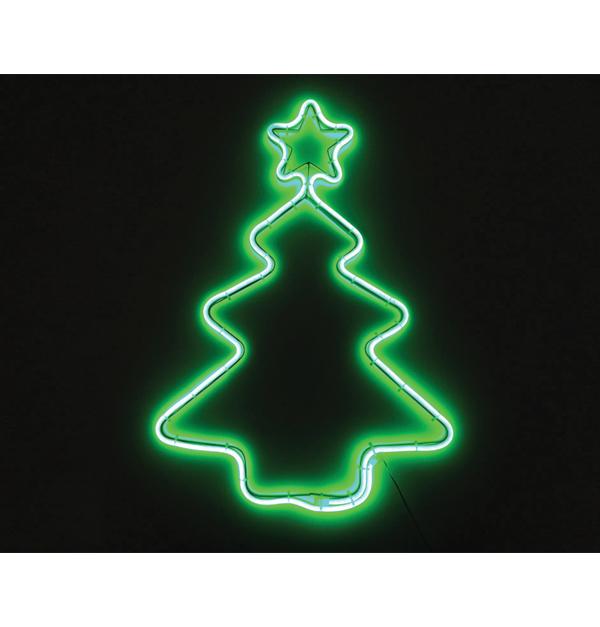 Φωτοσωλήνας Χριστ/κο δέντρο πράσινο με 240 λευκά θερμά λαμπάκια led ΝΕΟΝ