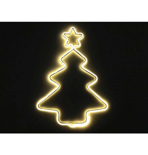 Φωτοσωλήνας Χριστ/κο δέντρο λευκό θερμό με 240 λευκά θερμά λαμπάκια led ΝΕΟΝ