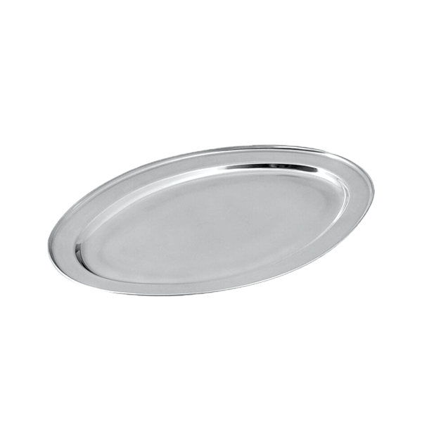 Μεταλλικός δίσκος σερβιρίσματος οβάλ 40,64cm