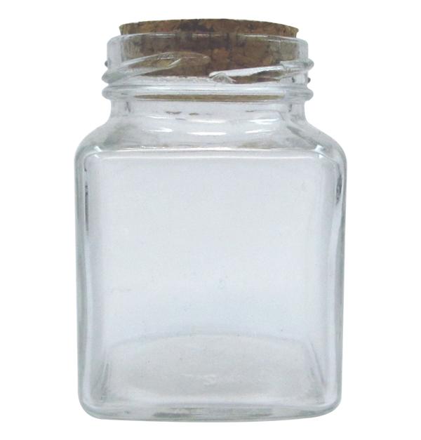 Γυάλινο βάζο 110ml με πώμα από φελλό