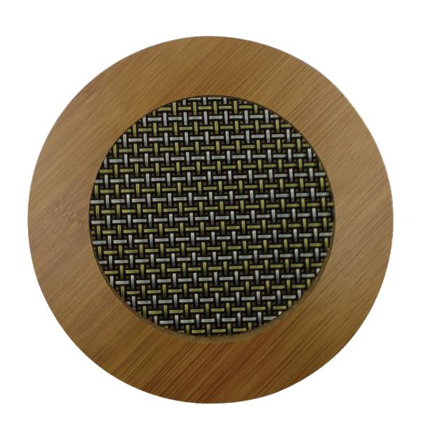 Ξύλινη βάση στρογγυλή για σκεύη
