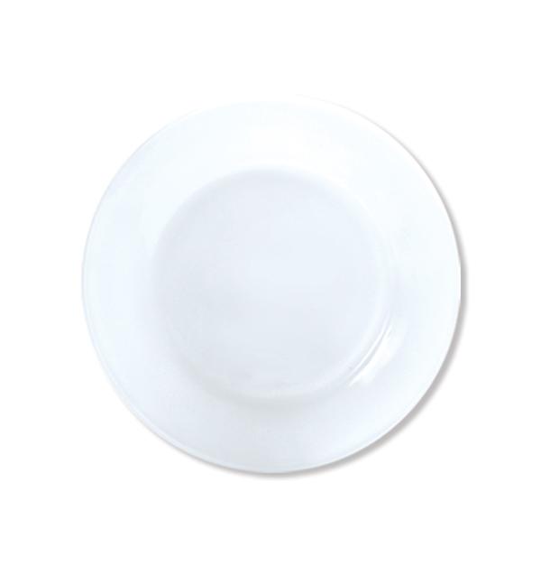 Στρογγυλό ίσιο πιάτο φαγητού 23cm