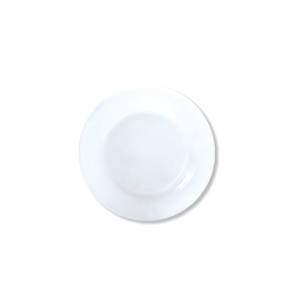Στρογγυλό ίσιο πιάτο φρούτου οπαλίνα 20cm