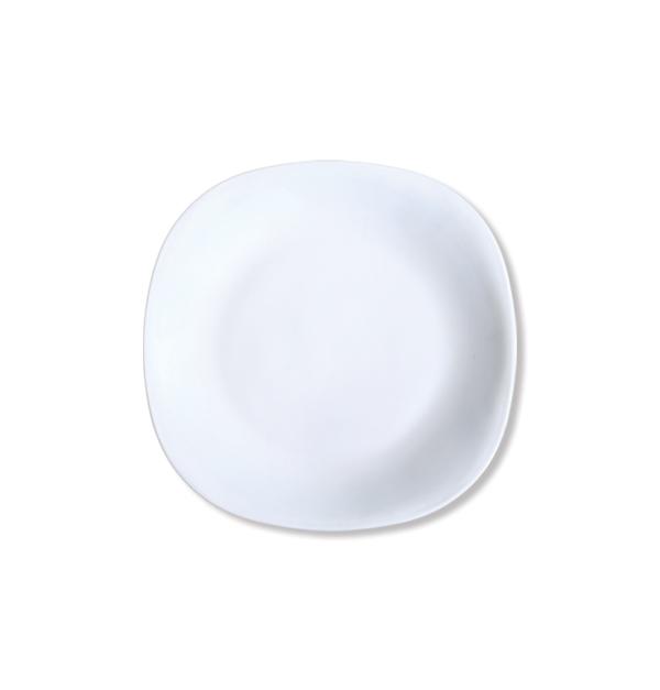 Τετράγωνο πιάτο φαγητού οπαλίνας 29cm