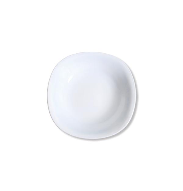 Τετράγωνο πιάτο σούπας οπαλίνα 21,5cm