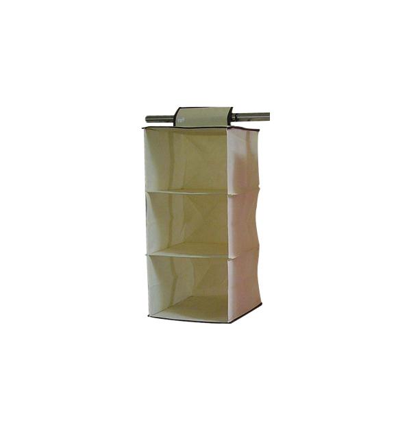 Κρεμαστή θήκη ντουλάπας με 3 ράφια