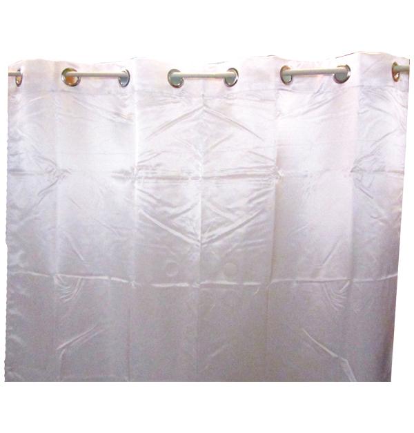 Λευκή σατέν κουρτίνα