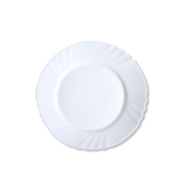 Στρογγυλό πιάτο φαγητού οπαλίνα 23 cm