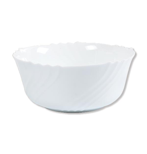 Στρογγυλή βαθιά σαλατιέρα οπαλίνα 23 cm