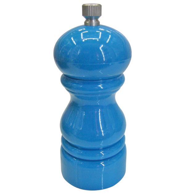 Ξύλινος χρωματιστός πιπερόμυλος 9cm