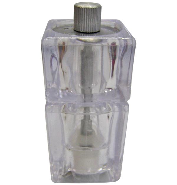 Πλαστικός διάφανος πιπερόμυλος 12,5cm