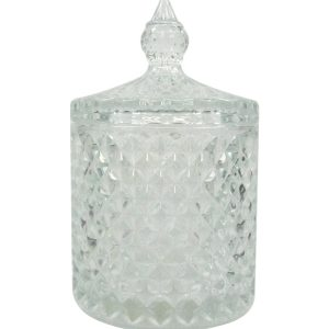 Pastry glass jar with lid