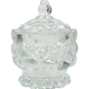 Glass pastry jar-vase with glass lid