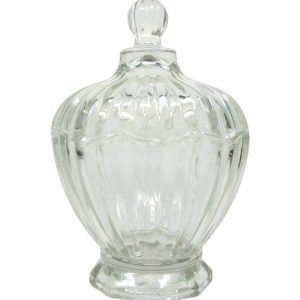 Glass pastry jar with lid