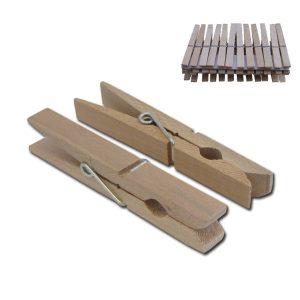 Σετ 24 ξύλινα μανταλάκια 7,2cm [00403070]