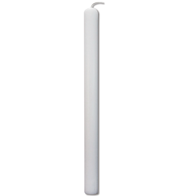 Λευκό οβάλ κερί λαμπάδας