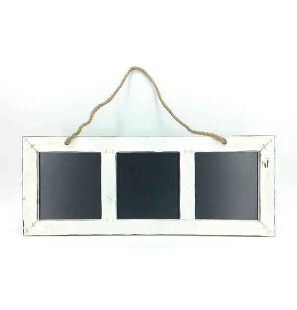 Κρεμαστός διακοσμητικός μαυροπίνακας 3 θέσεων