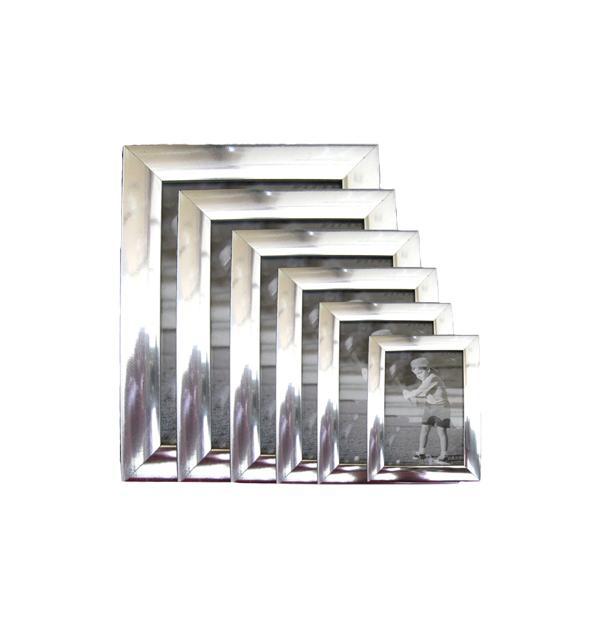 Ασημί πλαστική επιτραπέζια και επιτοίχια κορνίζα 15x20cm