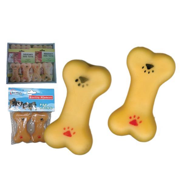 Σετ 2 πλαστικά κόκαλα παιχνίδια σκύλου