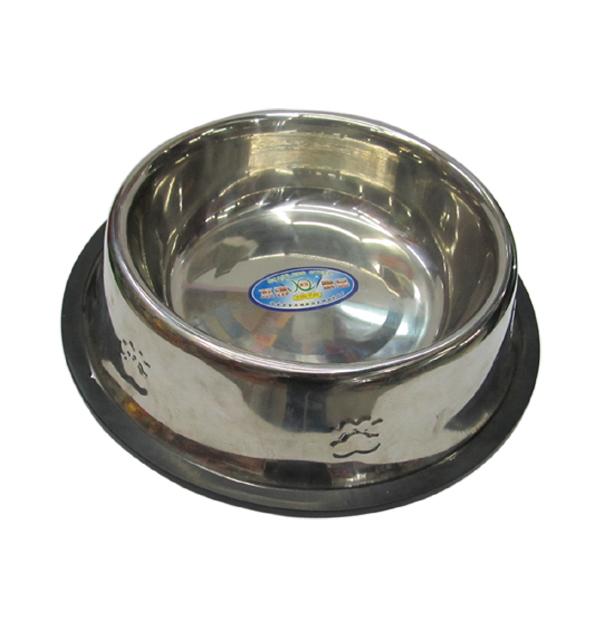 Στρογγυλό μεταλλικό πιατάκι-μπωλ σκύλου 22cm
