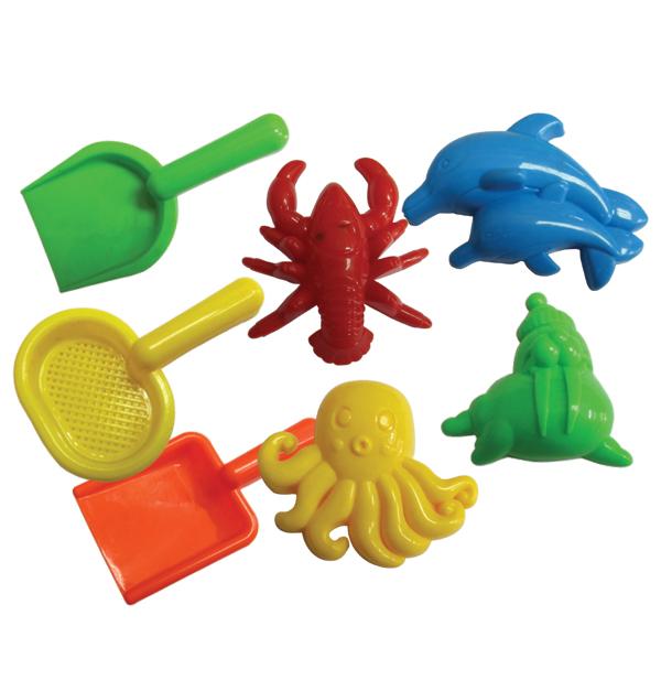 Σετ 7 παιχνίδια-φτυαράκια παραλίας