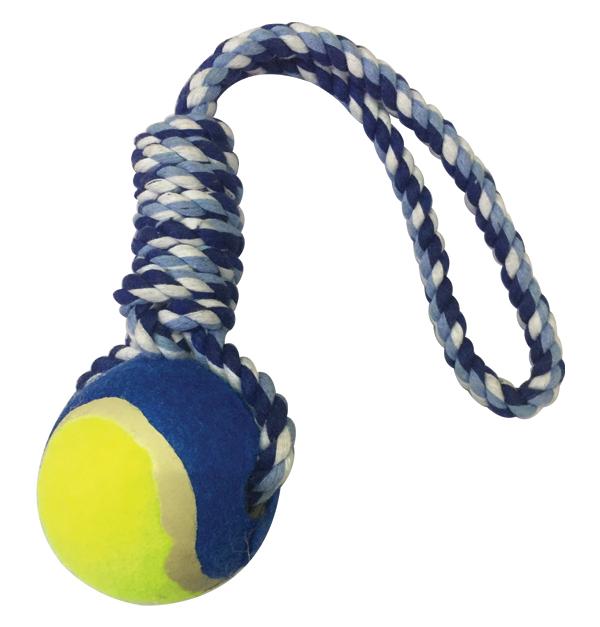 Παιχνίδι σκύλου μπάλα με σχοινί 32cm