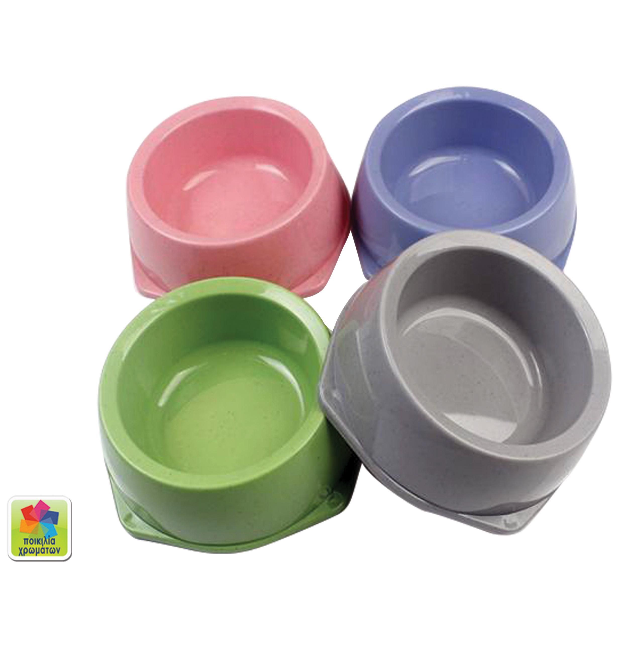 Μπόλ φαγητού σκύλου σε διάφορα χρώματα