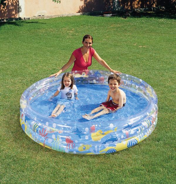 Φουσκωτή πισίνα διάφανη