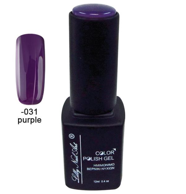 Ημιμόνιμο τριφασικό μανό 12ml - Purple