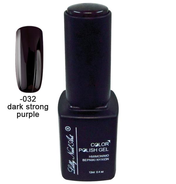 Ημιμόνιμο τριφασικό μανό 12ml - Dark strong purple