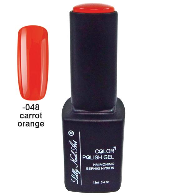 Ημιμόνιμο τριφασικό μανό 12ml - Carrot orange