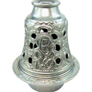 Ασημί μεταλλικό καντήλι καμπάνα [10601079-4]