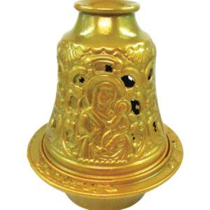 Χρυσό μεταλλικό καντήλι καμπάνα [10601079-5]