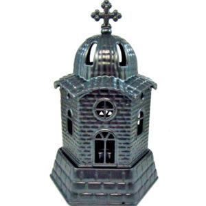 Ανθρακί μεταλλικό καντήλι εκκλησάκι [10601080-1]