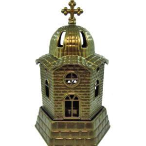 Μπρονζέ μεταλλικό καντήλι εκκλησάκι [10601080-3]