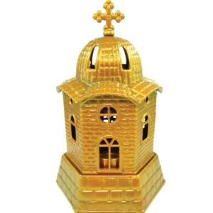 Χρυσό μεταλλικό καντήλι εκκλησάκι [10601080-5]