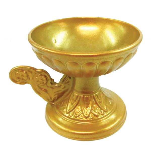 Χρυσό μεταλλικό θυμιατό κούπα