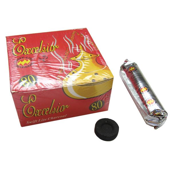 Κουτί με 8 μασούρια μεγάλα άκαπνα καρβουνάκια για θυμιατό