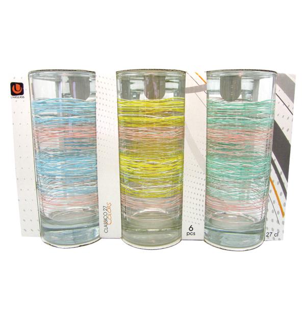 Σετ 6 γυάλινα ποτήρια νερού 27cl Fibers
