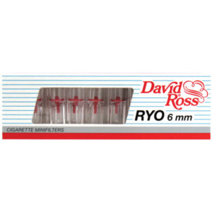 Συσκευασία με 10 πιπάκια David Ross slim
