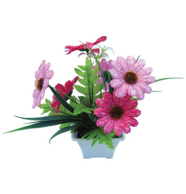 Γλαστράκι με λουλούδια
