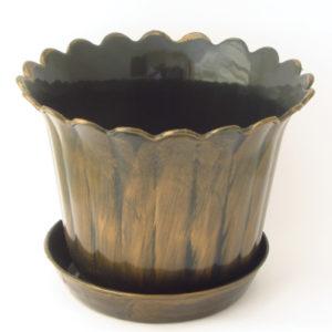 Πλαστική γλάστρα 10,5cm με πιατάκι [10804026]