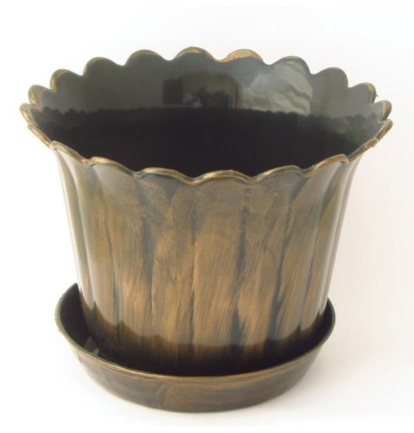 Πλαστική γλάστρα 10,5cm με πιατάκι