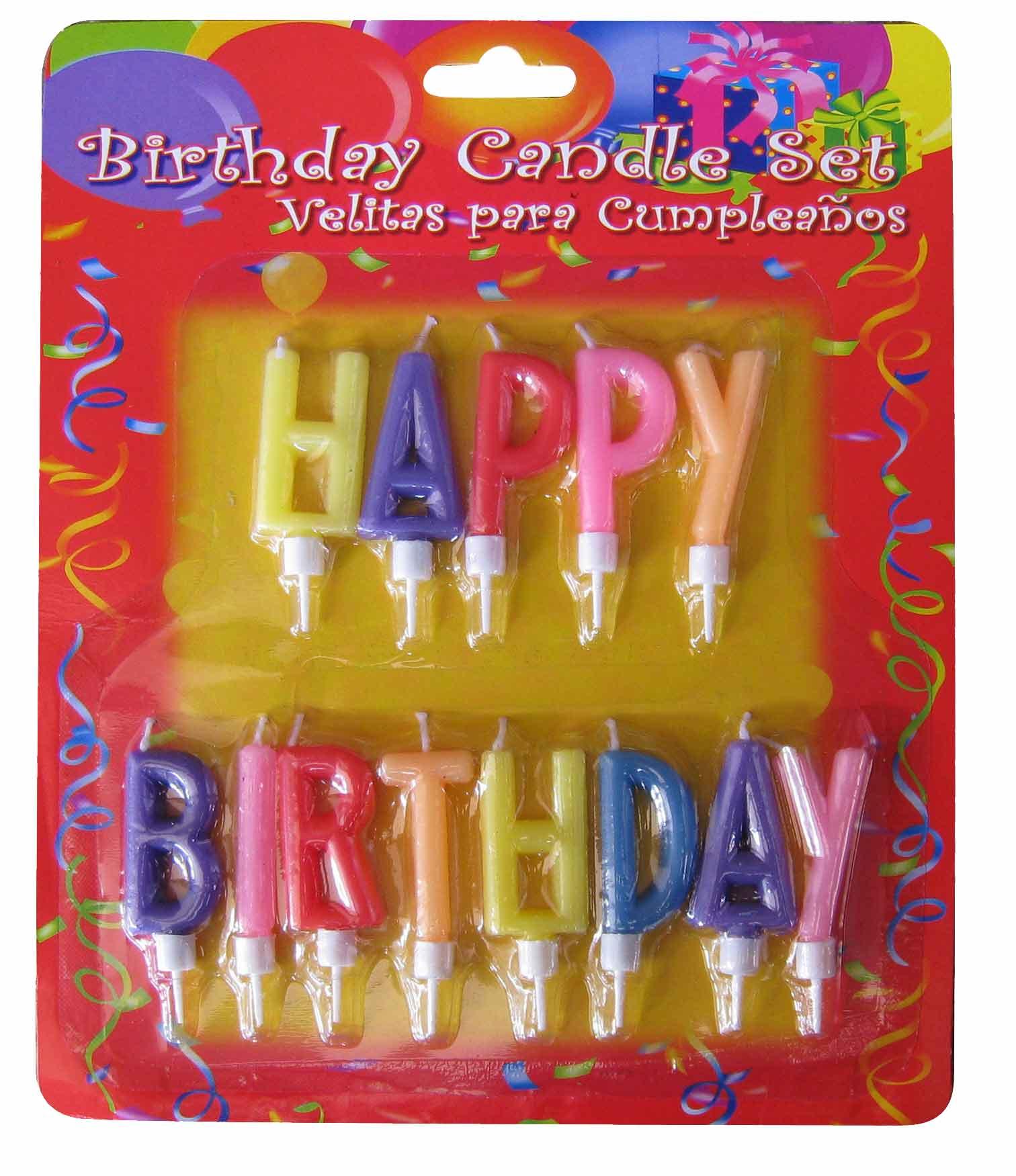 Σετ 13 κεράκια γενεθλίων Happy Birthday