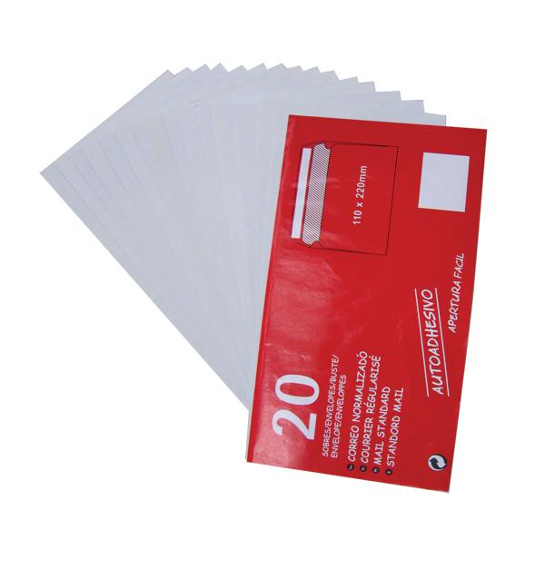 Σετ 20 αυτοκόλλητοι φάκελλοι αλληλογραφίας