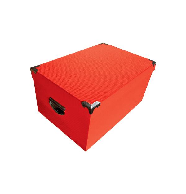 Σετ 10 κόκκινα χάρτινα παραλληλόγραμμα κουτιά αποθήκευσης